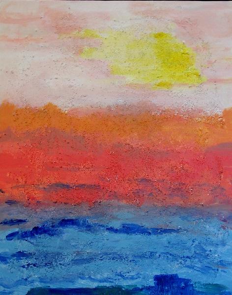 Italian Sun, 16 x 20, Acrylic with Texture on Canvas