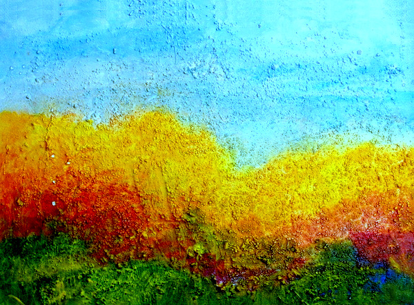Landscape to AC, 9 x 12, Acrylic with Texture on Canvas Board, 2007