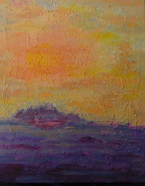 Soothing Sky, 16 x 20, Acrylic with Texture on Canvas, 2007