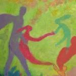 Aid, 16 x 20, Acrylic with Texture on Canvas