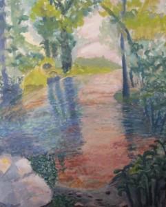 Montague Pool I, 24 x 30, Acrylic, $525