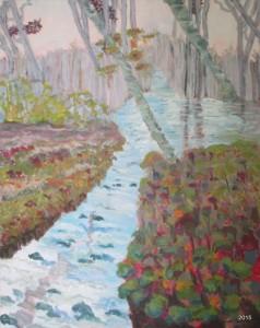 Plank Road Dream, 24 x 30, Acrylic on Canvas, $525