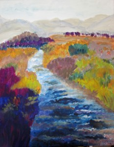 Taylor Creek 2, 30 x 40, Acrylic on Canvas, $525