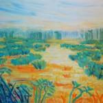 Turquoise Bog, 24 x 30, Acrylic, $525