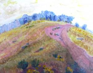 Rosco Pasture I, 24 x 30, Acrylic, $525
