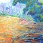 A Spot on the Deerfield, 16 x 20, Acrylic