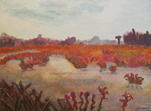 Orange Bog I, 30 x 40, $625