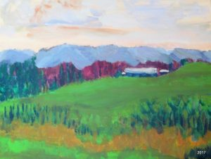 Afton View, 16 x 20, Acrylic