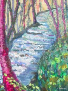 Crozet Creek, 12 x 16, Acrylic, $235