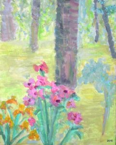 Spring Glance to Woods, 9 x 12, SOLD,