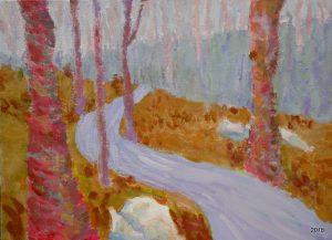 Mint Spring Path, 12 x 16, $395