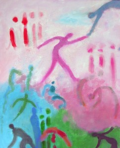 Chipper Pink Day, 242 x 30, $425