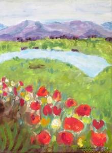 Diane Pond I, 9 x 12