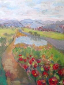Glance on the Camino, 9 x 12