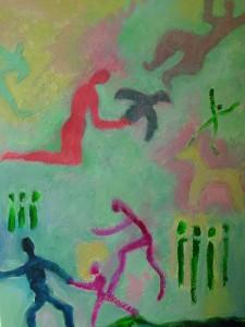Good Vibe Pastel, 24 x 30, $525