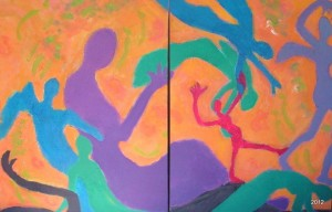 Grace Heart Moves, Diptych, 30 x 40s, $995
