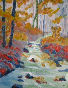 Plank Road Creek, 16 x 20, $475