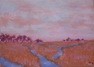 Sweet Marsh, II ,9 x- 12, $99