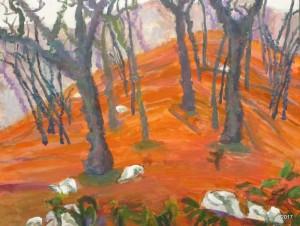 Winter Woods I, 16 x-20, $475